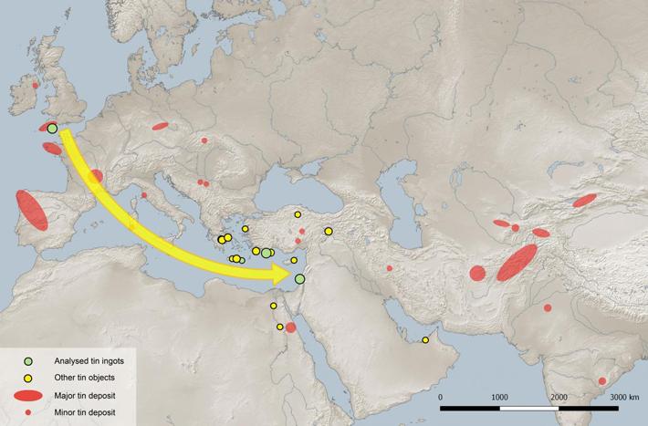 古代の錫。青銅器時代の交易